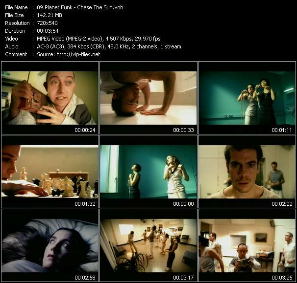 Screenshot of Music Video Planet Funk - Chase The Sun