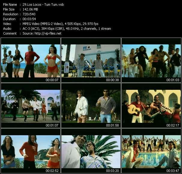 Los Locos clips musicaux vob