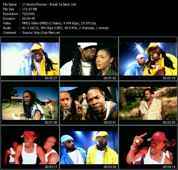 Busta Rhymes video vob