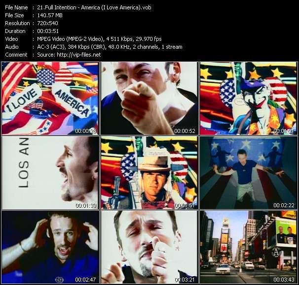 Screenshot of Music Video Full Intention - America (I Love America)