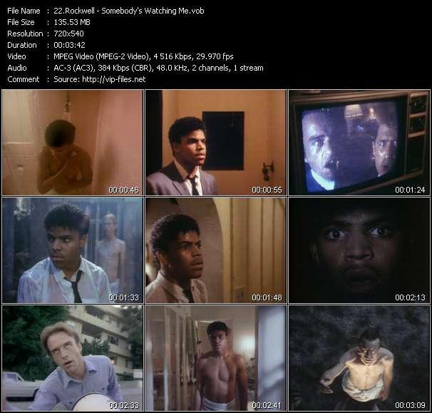 Screenshot of Music Video Rockwell - Somebody's Watching Me