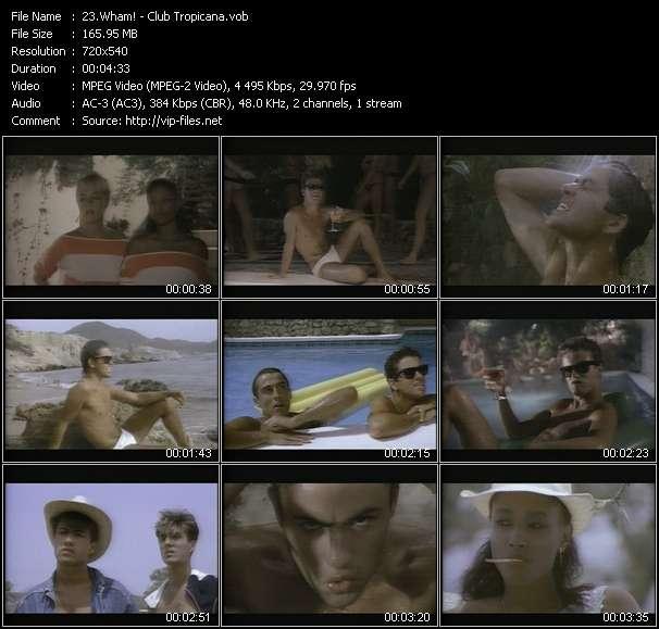 Screenshot of Music Video Wham! - Club Tropicana
