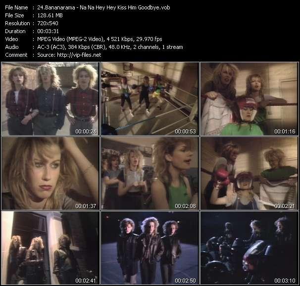 Screenshot of Music Video Bananarama - Na Na Hey Hey Kiss Him Goodbye
