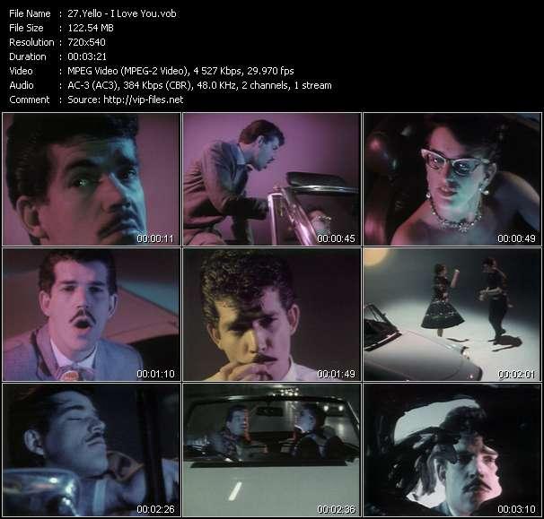 Screenshot of Music Video Yello - I Love You
