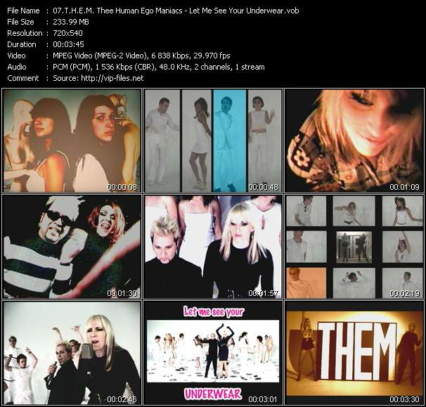 T.H.E.M. Thee Human Ego Maniacs video vob