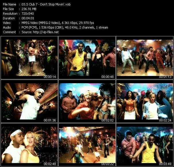 S Club 7 video vob