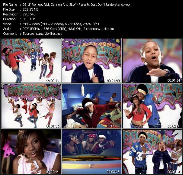 Lil' Romeo, Nick Cannon And 3LW video vob