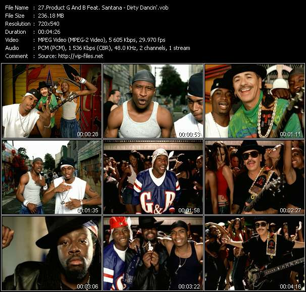 Product G And B Feat. Santana video vob