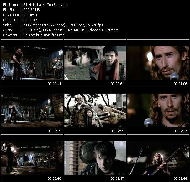 Nickelback video vob