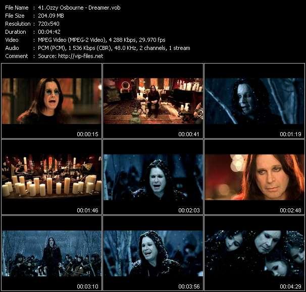 Ozzy Osbourne video vob