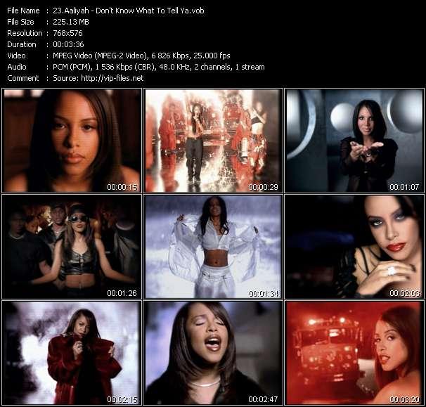 Aaliyah video vob