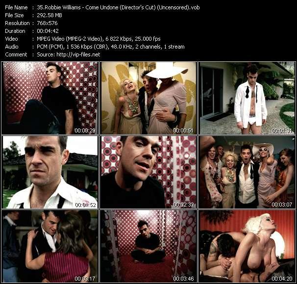 Robbie Williams video vob