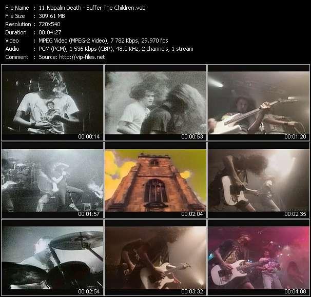 Napalm Death clips musicaux vob