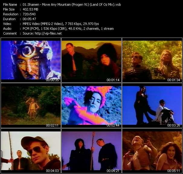 Screenshot of Music Video Shamen - Move Any Mountain (Progen 91) (Land Of Oz Mix)