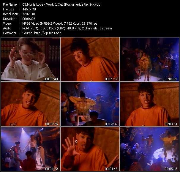 Screenshot of Music Video Monie Love - Work It Out (Rockamerica Remix)