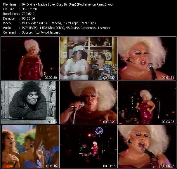 Screenshot of Music Video Divine - Native Love (Step By Step) (Rockamerica Remix)