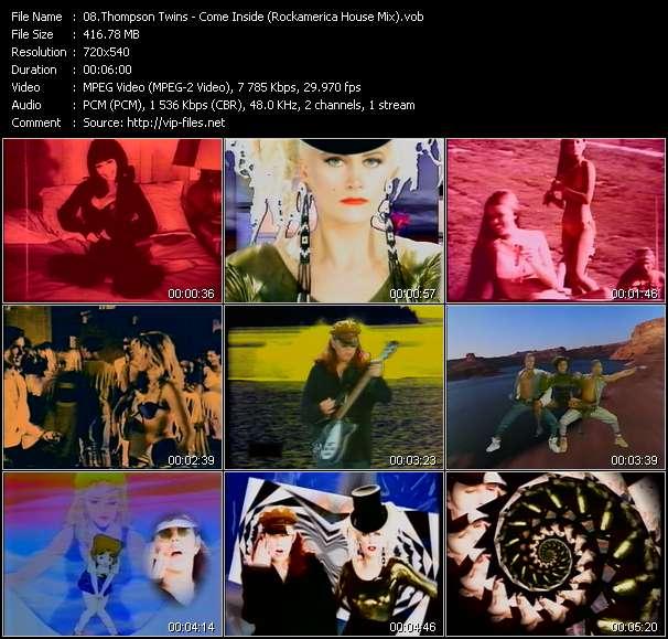 Screenshot of Music Video Thompson Twins - Come Inside (Rockamerica House Mix)