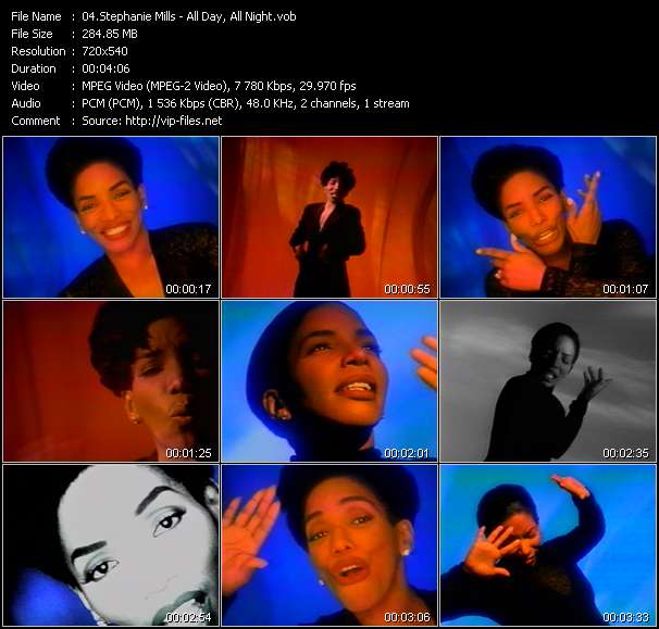 Screenshot of Music Video Stephanie Mills - All Day, All Night