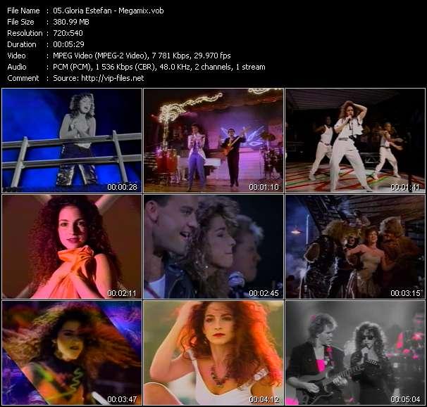Screenshot of Music Video Gloria Estefan - Megamix