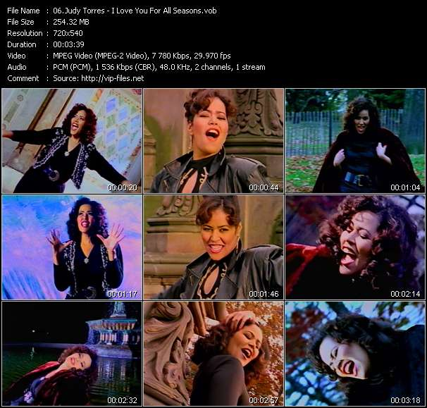 Screenshot of Music Video Judy Torres - I Love You For All Seasons
