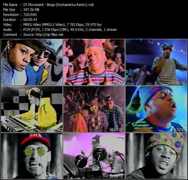 Screenshot of Music Video Movement - Bingo (Rockamerica Remix)