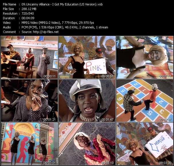 Screenshot of Music Video Uncanny Alliance - I Got My Education (US Version)