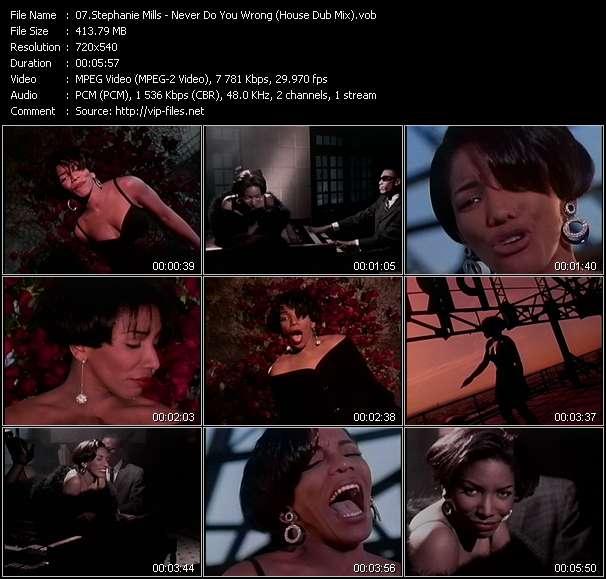 Screenshot of Music Video Stephanie Mills - Never Do You Wrong (House Dub Mix)