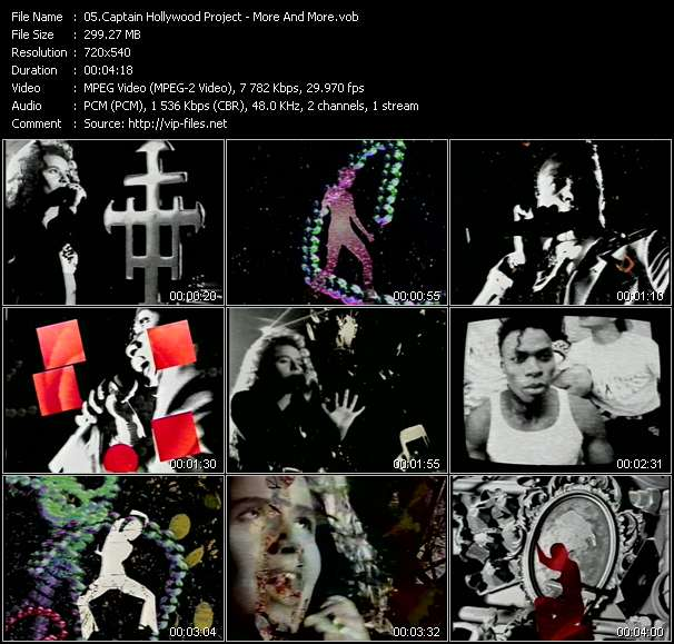 Screenshot of Music Video Captain Hollywood Project - More And More