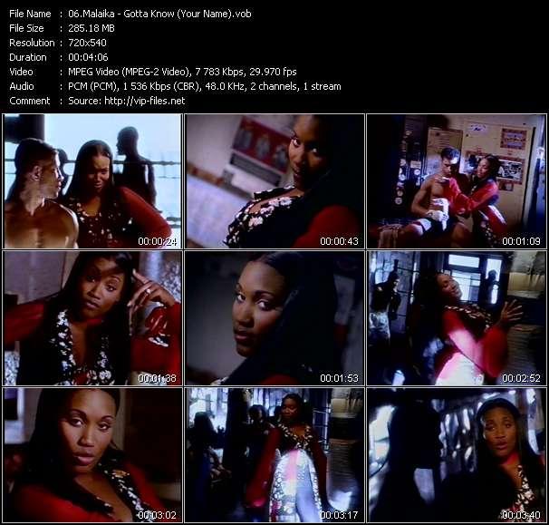 Screenshot of Music Video Malaika - Gotta Know (Your Name)