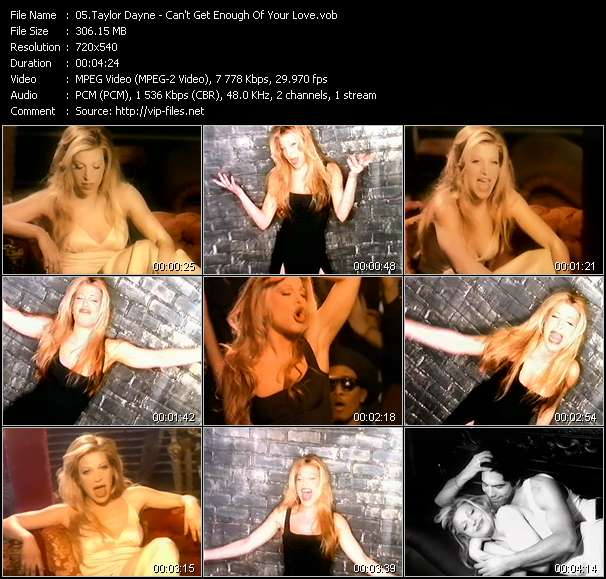 Screenshot of Music Video Taylor Dayne - Can't Get Enough Of Your Love