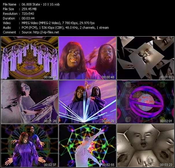 Screenshot of Music Video 808 State - 10 X 10