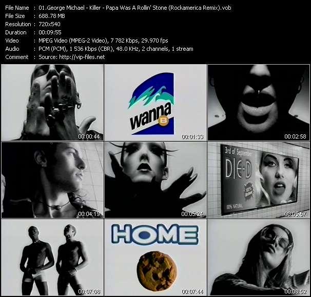 Screenshot of Music Video George Michael - Killer - Papa Was A Rollin' Stone (Rockamerica Remix)