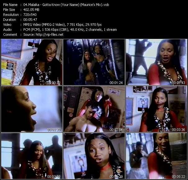 Screenshot of Music Video Malaika - Gotta Know (Your Name) (Maurice's Mix)