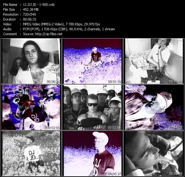Screenshot of Music Video DJ JD - 1-900