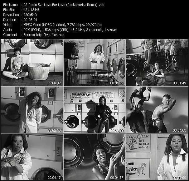 Screenshot of Music Video Robin S. - Love For Love (Rockamerica Remix)