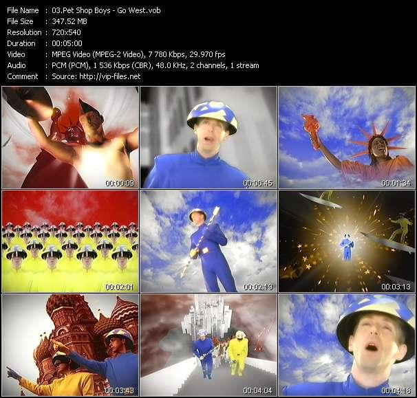 Screenshot of Music Video Pet Shop Boys - Go West