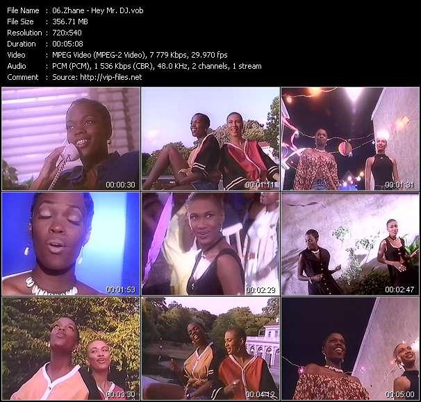 Screenshot of Music Video Zhane - Hey Mr. DJ