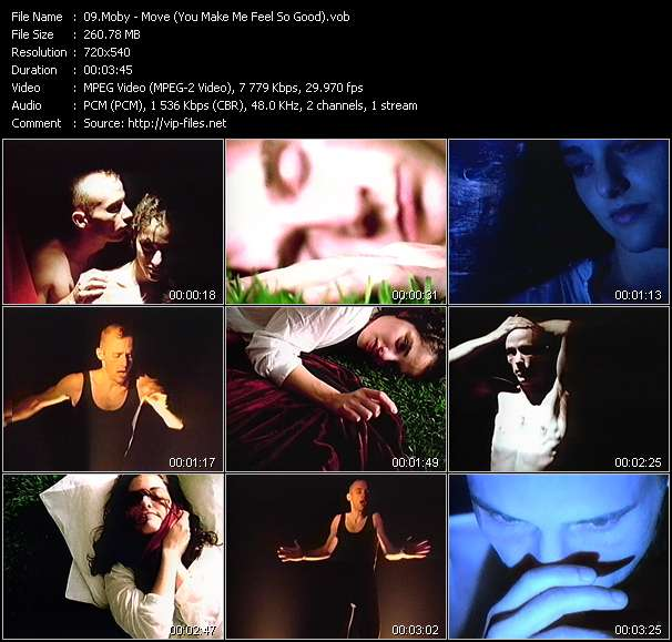 Screenshot of Music Video Moby - Move (You Make Me Feel So Good)
