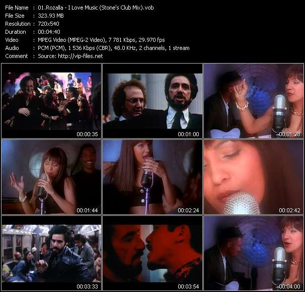 "Screenshot of Music Video Rozalla - I Love Music (Stone's Club Mix) (From ""Carlito's Way"")"