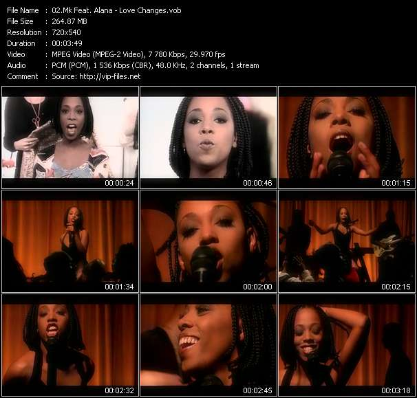 Screenshot of Music Video Mk Feat. Alana - Love Changes