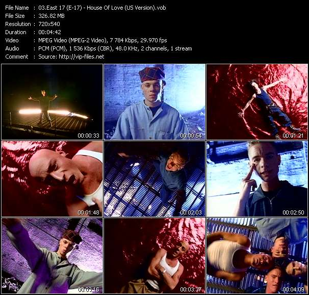 Screenshot of Music Video East 17 (E-17) - House Of Love (US Version)