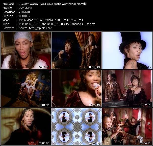 Screenshot of Music Video Jody Watley - Your Love Keeps Working On Me