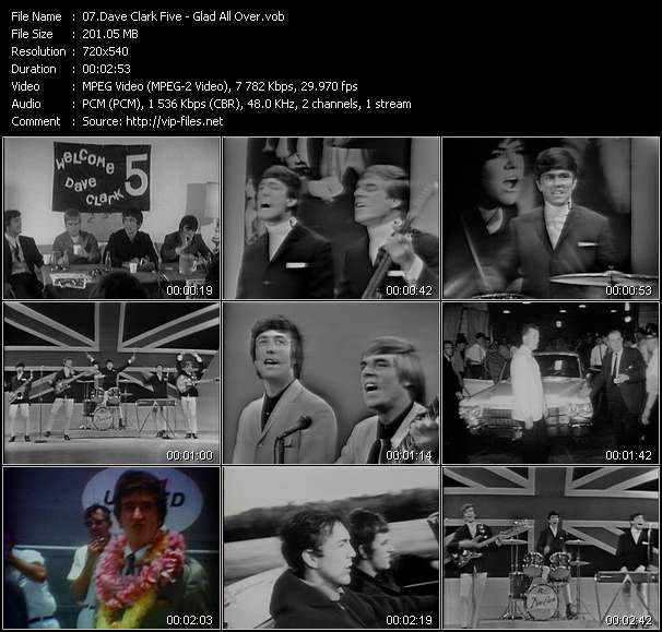 Screenshot of Music Video Dave Clark Five - Glad All Over
