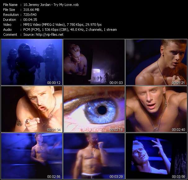Screenshot of Music Video Jeremy Jordan - Try My Love