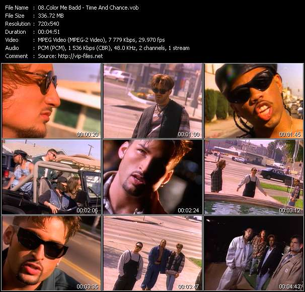 Color Me Badd video vob