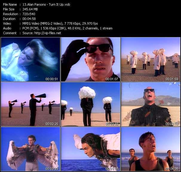 Screenshot of Music Video Alan Parsons - Turn It Up