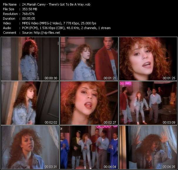 Screenshot of Music Video Mariah Carey - There's Got To Be A Way