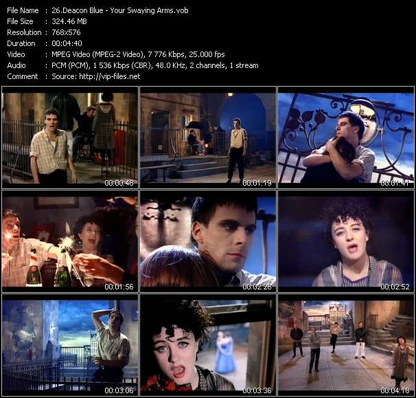 Screenshot of Music Video Deacon Blue - Your Swaying Arms
