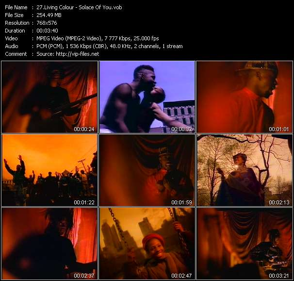 Living Colour видеоклип vob