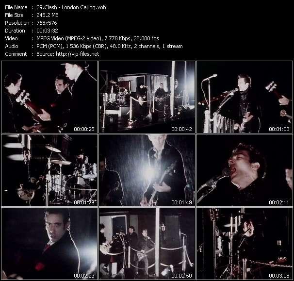 Screenshot of Music Video Clash - London Calling